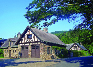 """In 1885, Harriman acquired """"Arden"""", the 7,863-acre Parrott family estate in the Ramapo Highlands near Tuxedo, New York, for $52,500. Over the next several years he purchased almost 40 different nearby parcels of land, adding 20,000 acres, and connected all of them with 40 miles of bridle paths. Harriman built a 100,000 sq. ft. home, on the property which was begun in 1905. Harriman lived in it with his wife Mary Williamson Averell for only seven months before his death in 1909."""